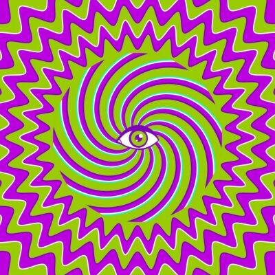 Adesivo Hypnotic poster retrò