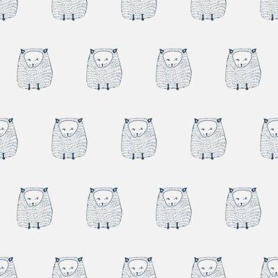 Adesivo I gatti seamless. Animal background. illustrazione di vettore
