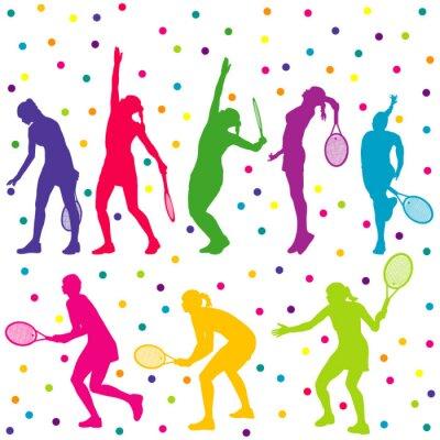 Adesivo I giocatori di tennis collezione silhouette
