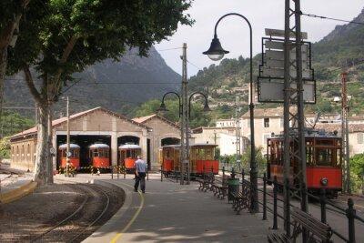 Adesivo I tram in capannoni Soller Mallorca Spagna