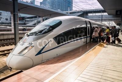 Adesivo I treni ad alta velocità in Guangzhou