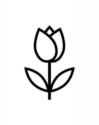 Adesivo icona del fiore di tulipano