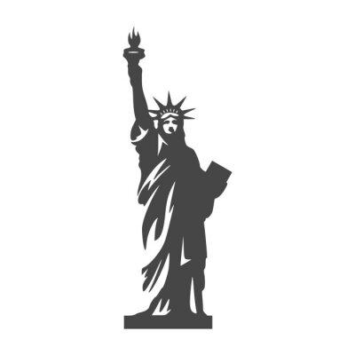 Adesivo Icona della statua della libertà - illustrazione