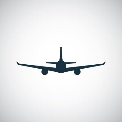 Adesivo icona di aeroplano