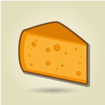 Adesivo icona di formaggio di progettazione