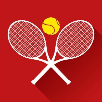 Adesivo icona di tennis bello