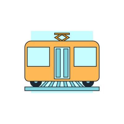 Adesivo icona vista frontale del tram
