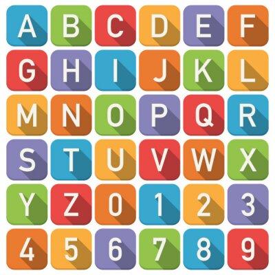 Adesivo Icone di alfabeto