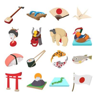 Adesivo Icone Giappone set