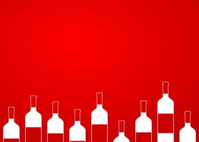 Adesivo Icono plano botellas de vino peccato alinear sobre fondo degradado # 1
