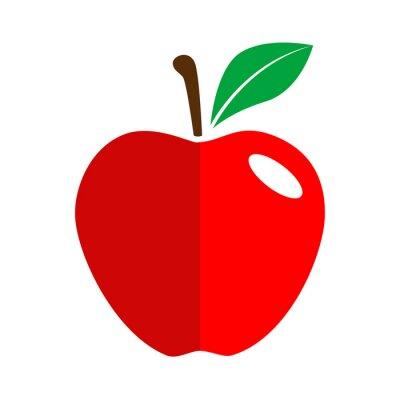 Adesivo Icono plano manzana