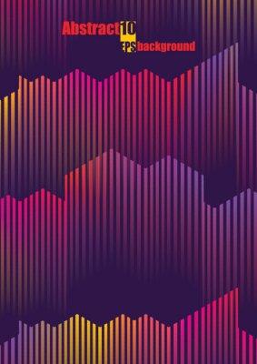 Adesivo IIllustration musicale variopinto astratto. Eps10 Illustrazione vettoriale