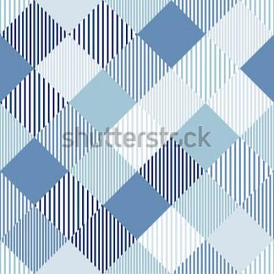 Adesivo Il controllore semplice astratto blu e bianco ha barrato il modello senza cuciture geometrico, vettore