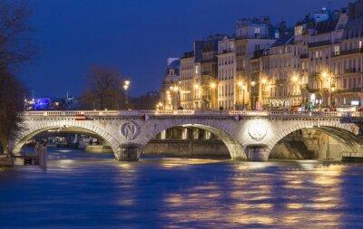 Adesivo Il Pont Saint Michel, Parigi, Francia.