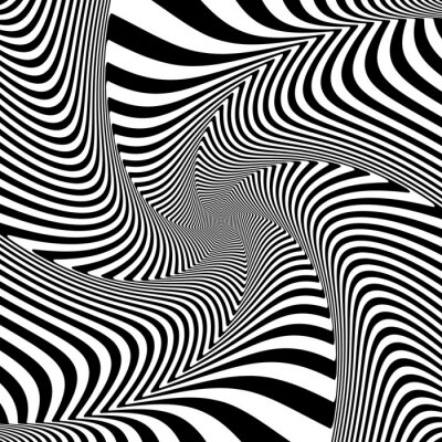 Adesivo Illusione del movimento di torsione torsione.