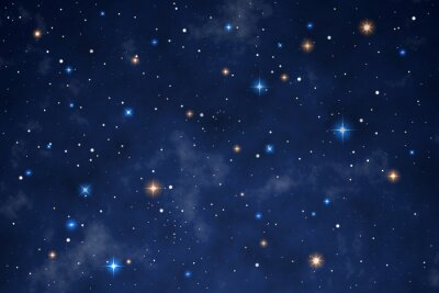 Adesivo Illustration of a beautiful night sky