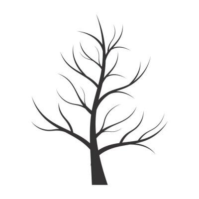 Adesivo Illustrazione astratta - albero silhouette