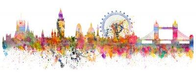 Adesivo Illustrazione astratta della skyline di Londra
