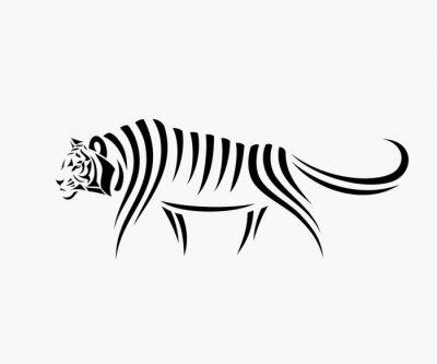 Adesivo Illustrazione astratta tigre