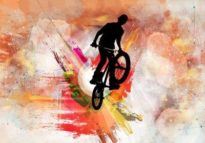 Adesivo Illustrazione del ponticello della bicicletta