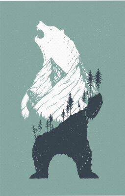 Adesivo Illustrazione di orso in piedi