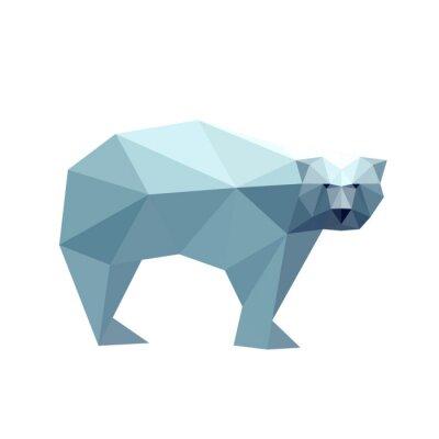 Adesivo Illustrazione di orso poligonale