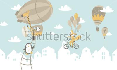 Adesivo Illustrazione grafica per bambini cambi per la stampa sul muro, cuscini, decorazione per bambini interni, baby wear e camicie, biglietto di auguri, vettoriale e altro