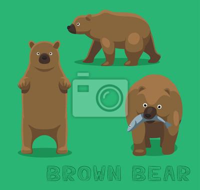 Adesivo Illustrazione Orso Orso bruno Vector Cartoon
