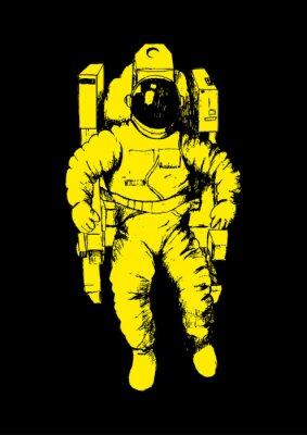 Adesivo Illustrazione Sketch di un astronauta