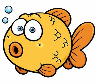 Adesivo Illustrazione vettoriale di Goldfish