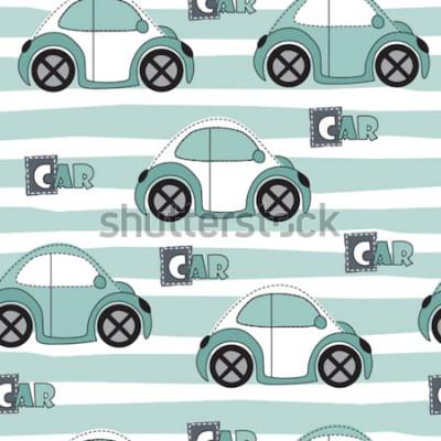Adesivo illustrazione vettoriale modello di auto