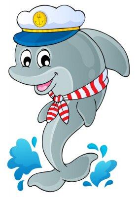 Adesivo Immagine con delfino tema 1