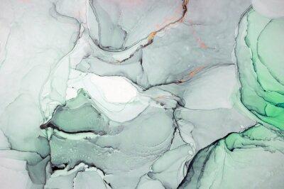 Adesivo Inchiostro, pittura, astratto. Primo piano del dipinto. Sfondo colorato pittura astratta. Pittura ad olio altamente strutturata. Dettagli di alta qualità Inchiostro dell'alcool pittura moderna astratt