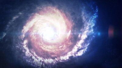 Adesivo Incredibilmente bella galassia a spirale da qualche parte nello spazio profondo. Elementi di questa immagine fornita dalla NASA
