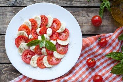 Adesivo Insalata italiano antipasti caprese con mozzarella tradizionale