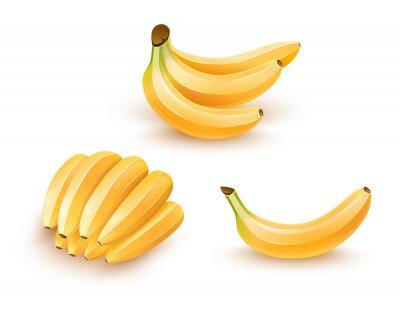 Adesivo Insieme della frutta banana isolato. illustrazione eps10.