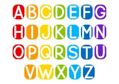 Adesivo Insieme delle lettere vettoriale per la progettazione