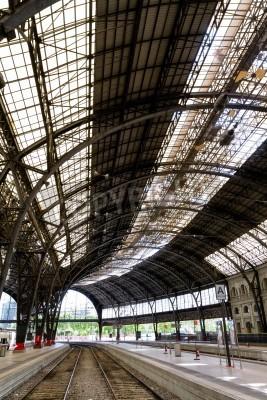 Adesivo Interesting railway station inside photo