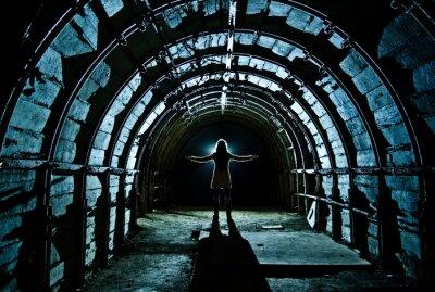 Adesivo Interno del tunnel nella miniera di carbone abbandonata