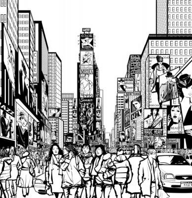 Adesivo Interpretazione di Times Square a New York