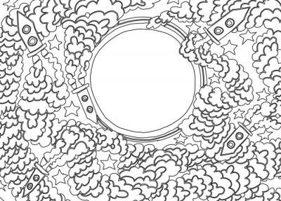 Adesivo Intorno alla Luna (illustrazione vettoriale)