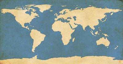 Adesivo Invecchiato Mappa del mondo