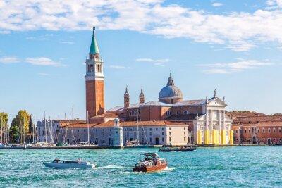 Adesivo isola di San Giorgio a Venezia, Italia