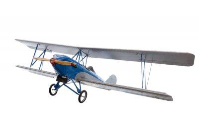 Adesivo isolato modello di aereo contro bianco