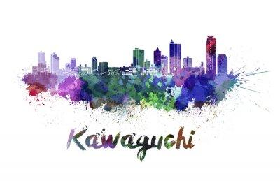 Adesivo Kawaguchi orizzonte in acquerello