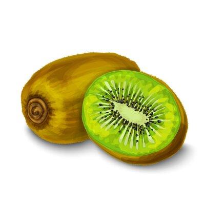 Adesivo Kiwi isolato poster o emblema