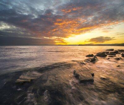 Adesivo Krajobraz morski, Zachód słońca