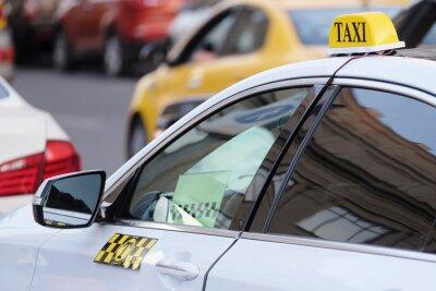 Adesivo L'immagine di un taxi