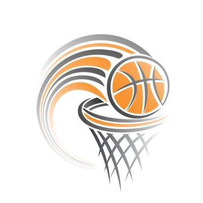 Adesivo L'immagine di una palla da basket