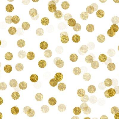 Adesivo L'oro Dots Faux lamina metallica trama pattern di sfondo